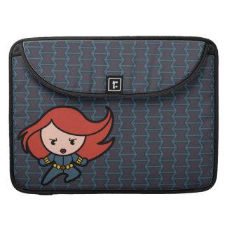 Kawaii Black Widow Dash Sleeve For MacBooks
