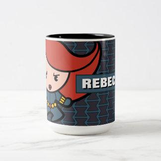 Kawaii Black Widow Dash Two-Tone Coffee Mug
