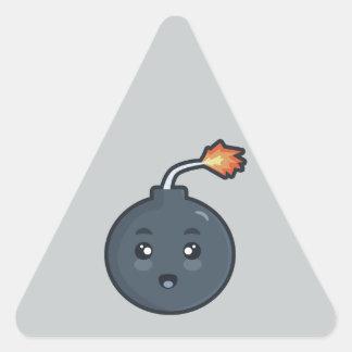 Kawaii Bomb Triangle Sticker