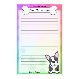 Kawaii Boston Terrier Stationery