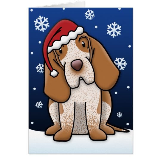 Kawaii Bracco Italiano Christmas Card