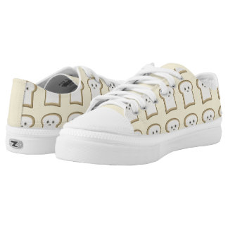 Kawaii Bread Low-Top Sneakers
