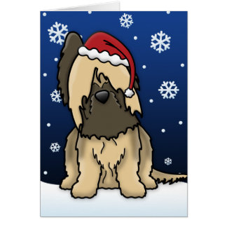 Kawaii Briard Christmas Card