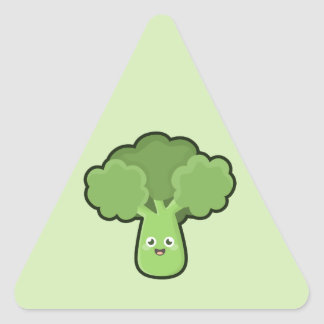 Kawaii Broccoli Triangle Sticker