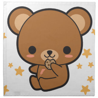Kawaii Brown Bear Napkin