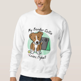Kawaii Brown Border Collie Flyball Sweatshirt