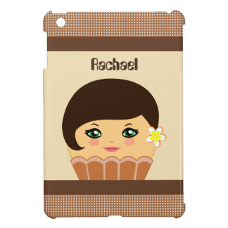 Kawaii Brown Cute Cupcake Character IPad Mini Case