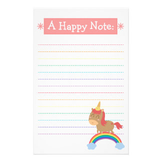 Kawaii Brown Horse trying to be a Unicorn Stationery