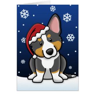 Kawaii BT Cardigan Welsh Corgi Christmas Card