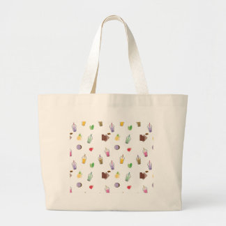 Kawaii Bubble Tea Large Tote Bag