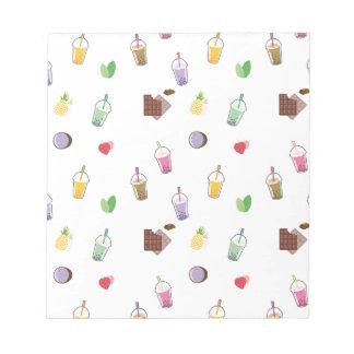 Kawaii Bubble Tea Notepad