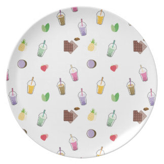 Kawaii Bubble Tea Plate