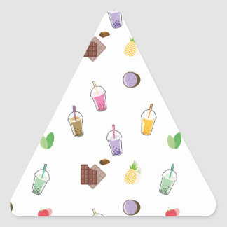 Kawaii Bubble Tea Triangle Sticker
