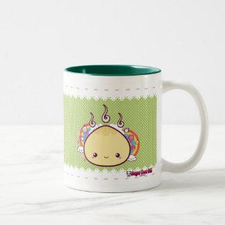 Kawaii Bun Two-Tone Coffee Mug