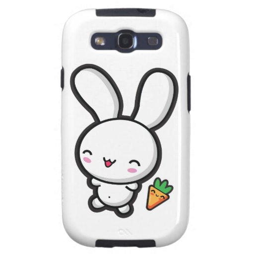 Kawaii Bunny and Carrot Galaxy S3 Cover