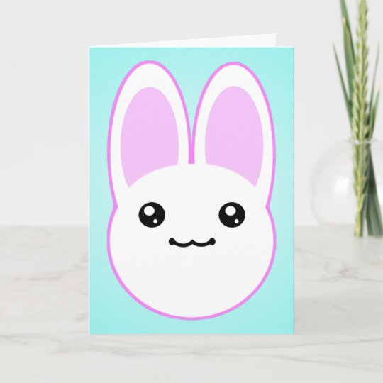 Kawaii Bunny Birthday Card Zazzle