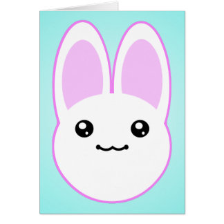 Kawaii Bunny Birthday Card