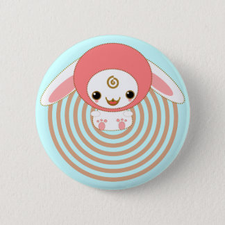 kawaii bunny pink 2 inch round button