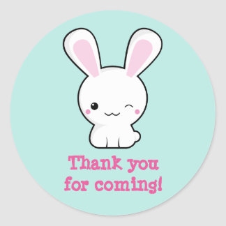Kawaii bunny round sticker