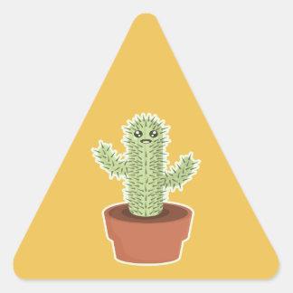 Kawaii Cactus Triangle Sticker