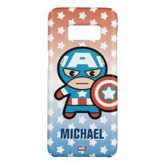 Kawaii Captain America With Shield Case-Mate Samsung Galaxy S8 Case