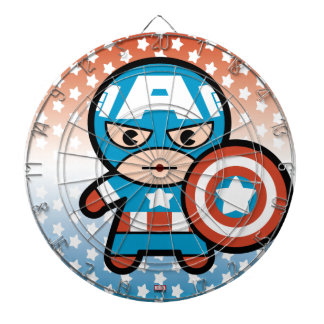 Kawaii Captain America With Shield Dartboard