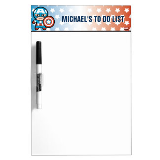 Kawaii Captain America With Shield Dry Erase Board