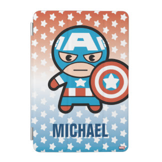 Kawaii Captain America With Shield iPad Mini Cover