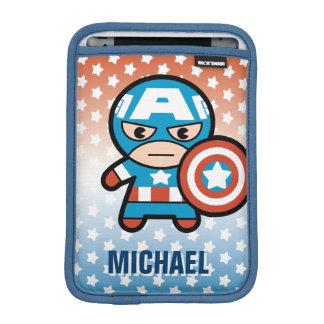Kawaii Captain America With Shield iPad Mini Sleeve