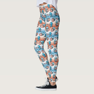 Kawaii Captain America With Shield Leggings