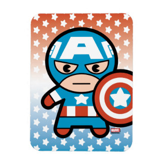 Kawaii Captain America With Shield Magnet