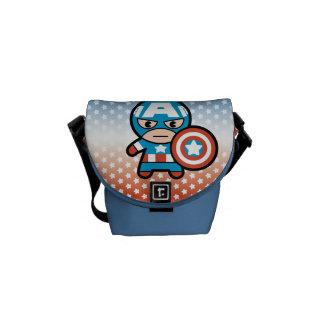 Kawaii Captain America With Shield Messenger Bag