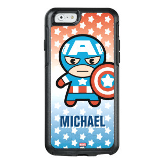 Kawaii Captain America With Shield OtterBox iPhone 6/6s Case