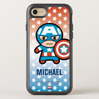 Kawaii Captain America With Shield OtterBox Symmetry iPhone 8/7 Case