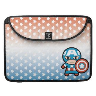 Kawaii Captain America With Shield Sleeve For MacBooks