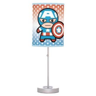 Kawaii Captain America With Shield Table Lamp
