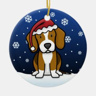 Kawaii Cartoon Beagle Christmas Christmas Ornaments