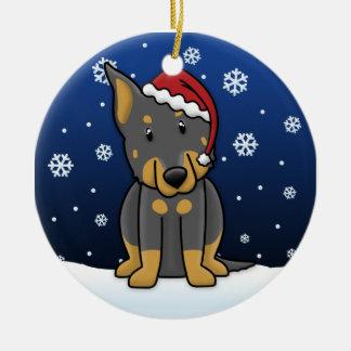Kawaii Cartoon Beauceron Christmas Ornament