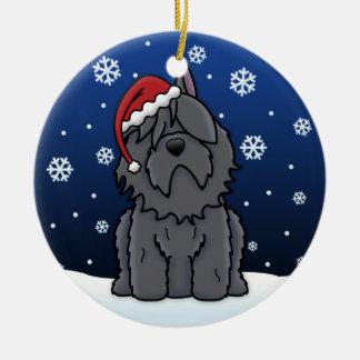 Kawaii Cartoon Bouvier des Flandres Christmas Christmas Ornaments