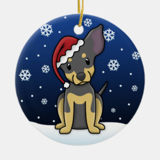 Kawaii Cartoon BT Chihuahua Christmas Ornament