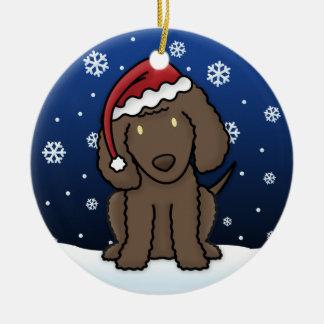 Kawaii Cartoon Irish Water Spaniel Christmas Christmas Tree Ornaments