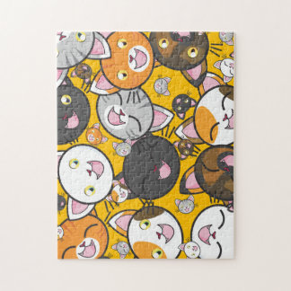 Kawaii Cartoon Kitties Jigsaw Puzzle