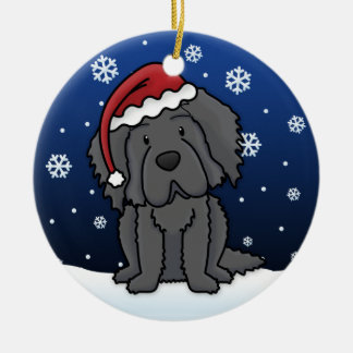 Kawaii Cartoon Newfoundland Christmas Ornament