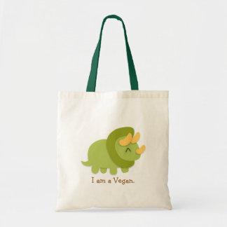 Kawaii cartoon of green and yellow Triceratops