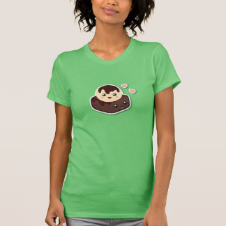 Kawaii Cartoon of Vanilla Ice Cream and Brownie T-Shirt