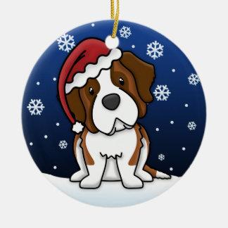 Kawaii Cartoon Saint Bernard Christmas Ornament