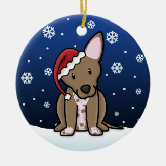 Kawaii Cartoon Xoloitzcuintli Christmas Ornament