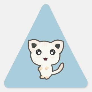 Kawaii Cat Triangle Sticker