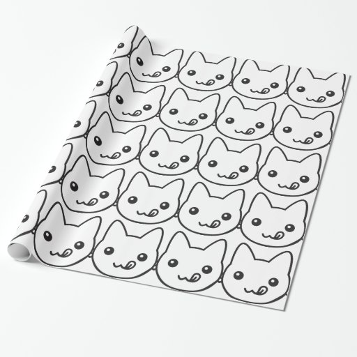 Kawaii Cat Gift Wrapping Paper