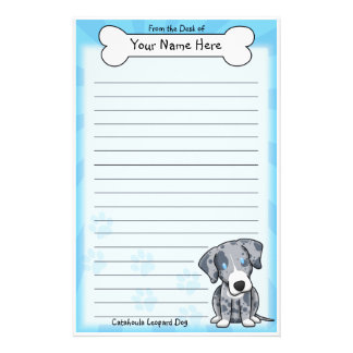 Kawaii Catahoula Leopard Dog Stationery